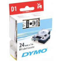 D1, brand tape, 24mm, black text on transparent tape, 7m - 53710 DYMO / S0720920