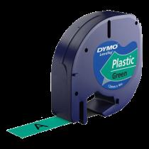 DYMO LetraTAG plasttejp, grön, 12mm, 4m (91224)
