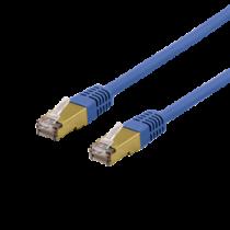 Cable DELTACO UTP, 10m, CAT6a, blue / SFTP 610BAH