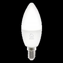 DELTACO SMART HOME LED light, E14, WiFI, 5W, 2700K-6500K, dimmable, wh