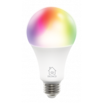 DELTACO SMART HOME RGB LED light, E27, WiFI, 9W, 16m colors, white