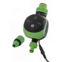 DELTACO SMART HOME интеллектуальный контроллер воды, WiFi, IP67, 9 В, черный / зеленый