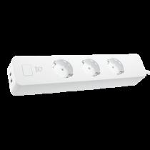 DELTACO SH-P03USB Smart Branch Socket, 3xCEE 7/4, USB-A 2A, White