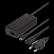 DELTACO 45W USB-C Зарядка для ноутбука, 2м, USB-C PD, черный