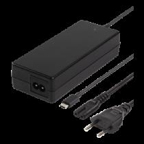 DELTACO 87W USB-C Зарядка для ноутбука, 2м, USB-C PD, черный