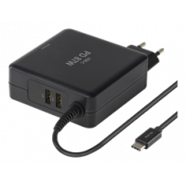 Laptop Charger DELTACO/SMP-USBC87PD3 black