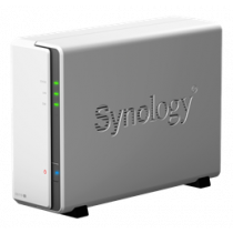 "Synology DiskStation DS119j, NAS enclosure for 1x3.5 ""/ 2.5"" HDD, white DS119j / SYNO-0050"