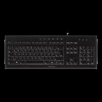 CHERRY STREAM 3.0, влагозащищенный, SX-переключатель, USB, макет ЕС, черный