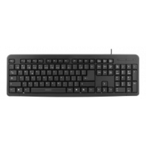 Keyboard, 104 keys, Lithuanian layout, USB, slim design DELTACO black / TB-58-LT