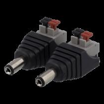 2-контактный клеммный блок до 5,5 постоянного тока, 2 шт DELTACO черный / TBL-1001