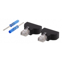8-pin Terminal block to RJ45, 2-Pack, Screw fix, RJ45 male DELTACO black / TBL-1009