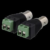 2-pin Terminal block to BNC, 2-Pack, Screw fix, BNC female DELTACO black / TBL-1012