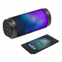Bluetooth speaker Technaxx  LED light, 2000mAh, black / TECH-017