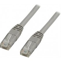 Cable DELTACO F/UTP, Cat6, Patch, 5m, grey / TP-65