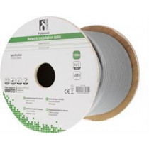 DELTACO S / FTP Cat7 Installation Cable, 100m Drum, 600MHz, Delta Certified, LSZH, Gray TP-70