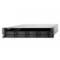 "19 ""2U NAS enclosure, 8x3.5"" / 2.5 ""slots, Intel Zeon E-2124 3.3GHz Quad Core, Black QNAP / TS-883XU-RP-E2124-8G"