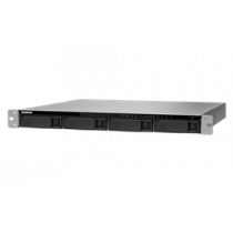 "19 ""1U NAS enclosure, 4x2.5"" / 3.5 ""slots, AMD Ryzen, black QNAP / TS-977XU-RP-1200-4G"
