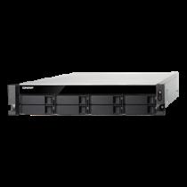 """19 """"1U NAS enclosure, 8x2.5"""" / 3.5 """"slots, SSD RAID, black QNAP / TVS-872XU-i3-4G"""