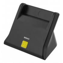 DELTACO UCR-156 Smart card reader, USB, black / UCR-156