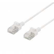 Cable DELTACO Cat6a, 3.8mm, 3m, 500MHz, white / UFTP-1058