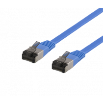 Cable DELTACO Cat6a, 5m, 1.9mm, 500MHz, blue / UFTP-2061