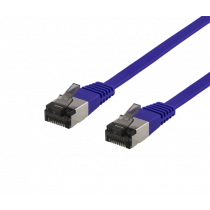 Cable DELTACO Cat6a, 5m, 1.9mm, 500MHz, purple / UFTP-2065