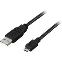 Cable DELTACO USB 2.0, 5 pin, 3m, black / USB-303S