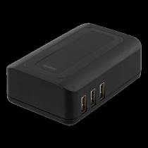 Charging station DELTACO, 240V, 6.4A, black / USB-AC147