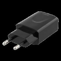 DELTACO Wall Charger 100-240В, USB, 5В, 2,4А, 12Вт, черный