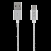 Magnetic cable STREETZ USB 2.0, USB-C, 1m, silver / USBC-1271