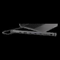 DELTACO USB-C док-станция, 100 Вт USB-C PD, 4K HDMI, USB 3.1 Gen 1,