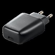 DELTACO wall charger 240V to 5V USB, 3A / 15W, 1xUSB-C, bag, black/ USBC-AC109