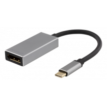 Adapter DELTACO USB-C-DisplayPort, 3840x2160, 60Hz, space gray / USBC-DP2