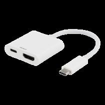 Adapter DELTACO USB-C to HDMI, 60W, UltraHD 60Hz, HDCP 2.2, white / USBC-HDMI6