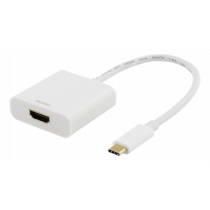 Adapter DELTACO USB-C to HDMI, 4096x2160 30Hz, white / USBC-HDMI7