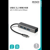 USB C HUB 4port Space Серый