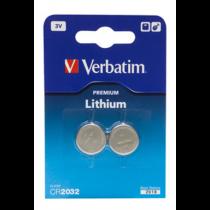 Verbatim - Battery 2 x CR2032 Li / V49936