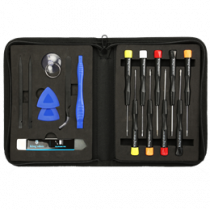 Professional iPhone repair kit, 21 parts, Premium Philips chisel DELTACOIMP black / VK-57