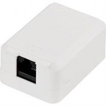Wall outlet, surface, UTP, 1xRJ45, Cat6 DELTACO / VR-22