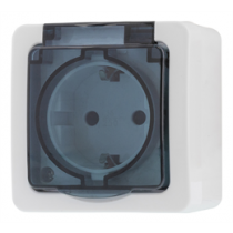 1-way socket EPZI IP54, white / VR-6009